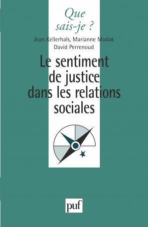 Le sentiment de justice dans les relations sociales