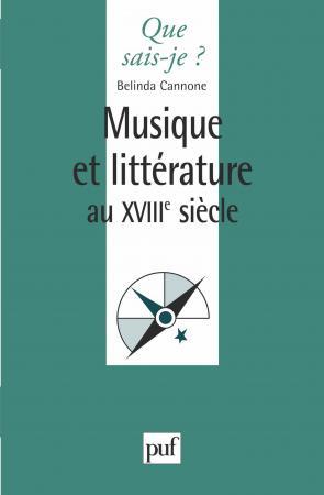 Musique et littérature au XVIIIe siècle