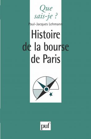 Histoire de la bourse de paris